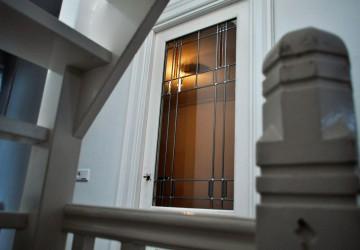 Restauratie Glas in lood deur Utrecht binnenstad tomtoren heart glass utrecht