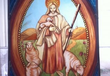 jezus de herder gebrandschilderd glas in lood Heart Glass Utrecht