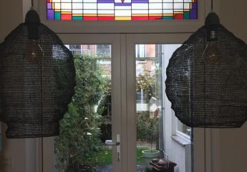 Glas in lood restauratie ingebouwd in dubbel glas (isolatieglas)